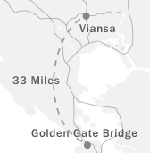 Map to Viansa Sonoma from the Golden Gate Bridge